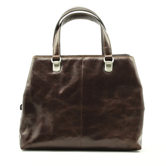 Tony Perotti Italian Leaher Luiza Women's Handbag - Brown