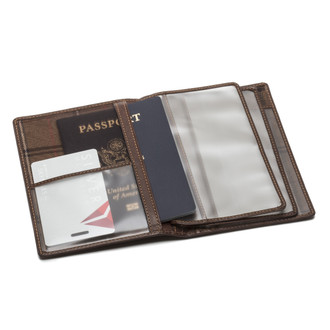 Tony Perotti Unisex Italian Bull Leather Executive Bifold Passport Cover Case
