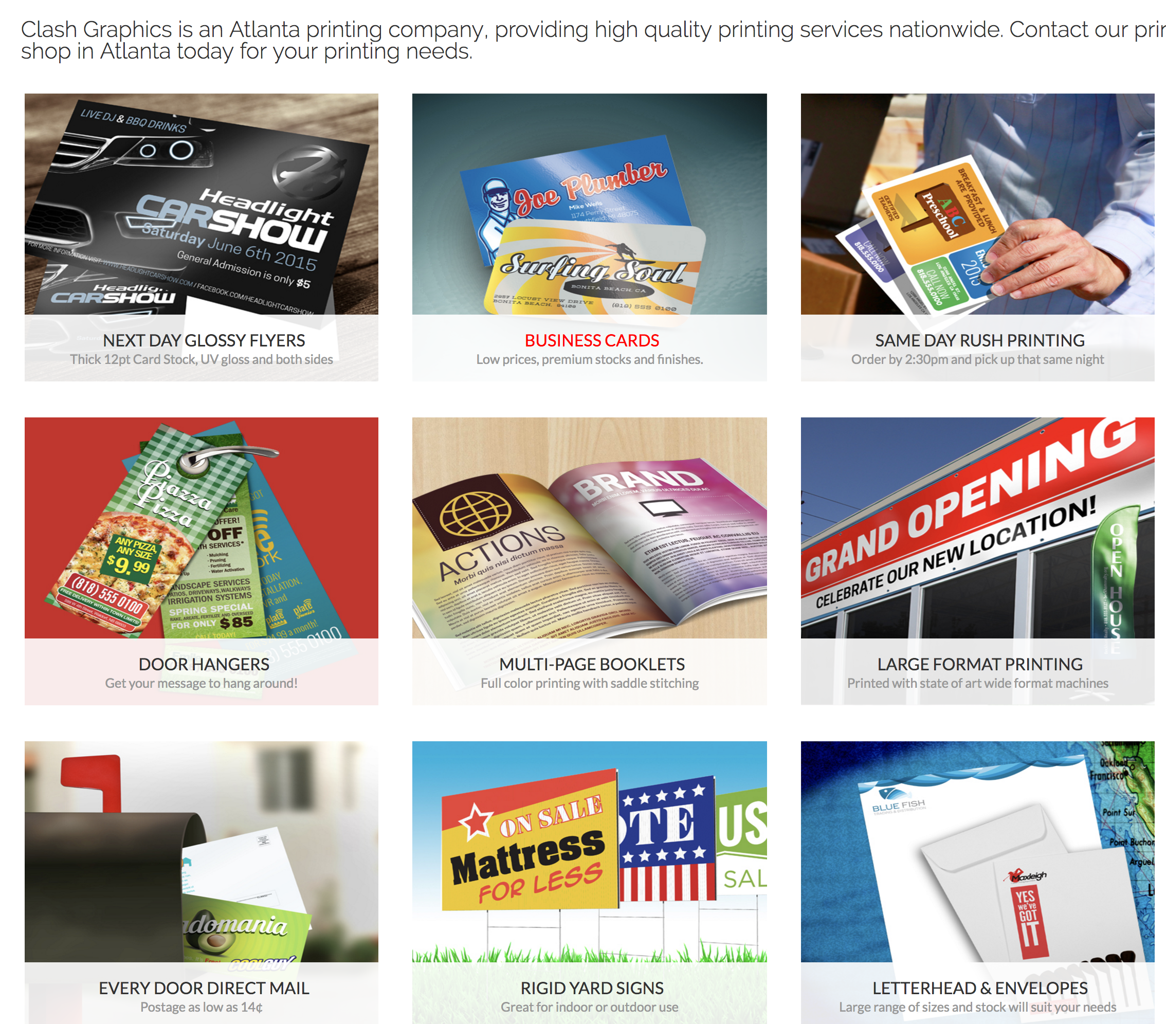 Atlanta Printing Company, Flyer Printing Atlanta, Business Cards ...