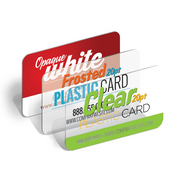 Our clear business cards are printed on 20pt plastic full color one side. Choose from 3-5 day service or 7-10.