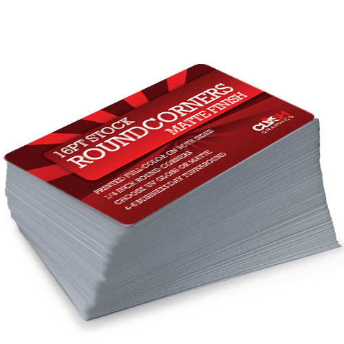 Round Corner Business Cards Extra Thick 16pt Clash Graphics