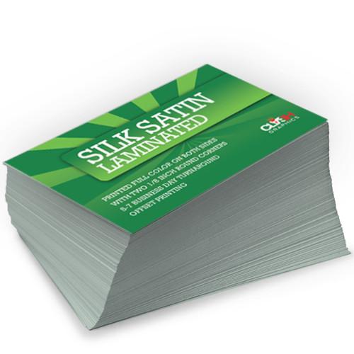 Silk Satin Laminated Business Cards Clash Graphics