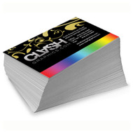 14 Point Uncoated Foil Cards