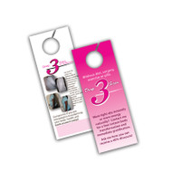3 x 8 Door Hanger (12pt Glossy Card Stock)