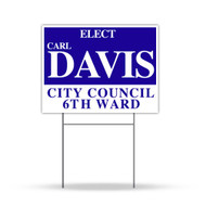 Single Color Yard Signs