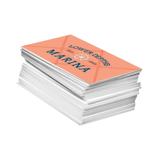 extra thick 34 pt uncoated business cards are printed with our high quality digital printing process