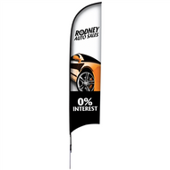 13' Razor Sail Sign Kit Single-Sided with Spike Base (7-10 days)