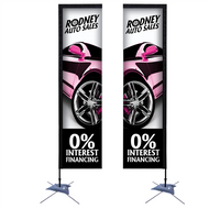 10' Rectangle Sail Sign Kit Single-Sided with Scissor Base (7-10 days)