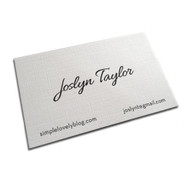 130lb White Linen Business Cards