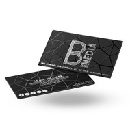 22Pt Black Suede Onyx Business Cards