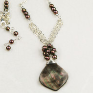 Black Mother of Pearl & Freshwater Pearl Necklace