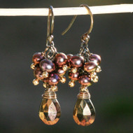 Bronzed Spinel & Freshwater Pearl