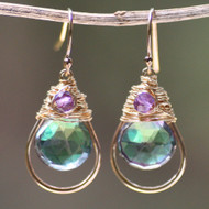 Leaf Green Mystic Quartz & Amethyst