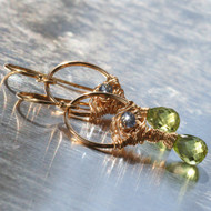 Peridot & Blue Quartz Earring