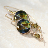 Rain Forest Swarovski Earrings