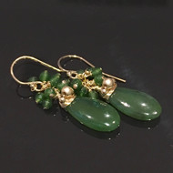 Canadian Nephrite Jade Earrings