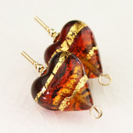 Large Amber Hearts