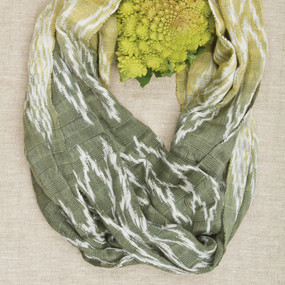 Natural Dye Ikat Infinity Scarf