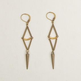 Diamond Chain & Spike Earrings*