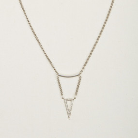 Brass Etched Triangle Fair Trade Necklace