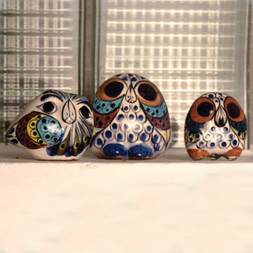 Hand Painted Ceramic Owls
