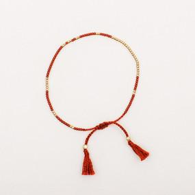 Gold Bead Tassel Bracelet