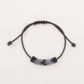 Beaded Chevron Leather Bracelet