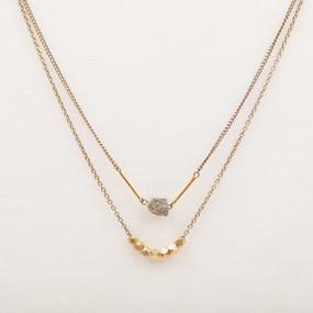Pyrite & Bronze Double Strand Necklace*