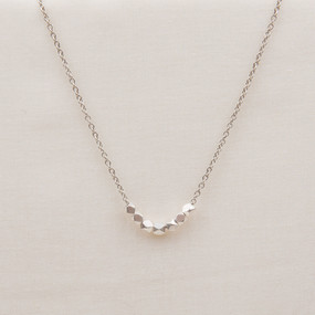 Faceted Metal Necklace