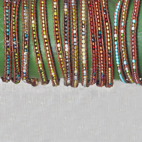 Set of 3 Leather & Bead Anklets