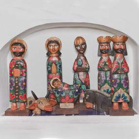 Large Hand Carved Nativity Set