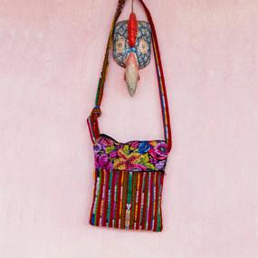 Stripes & Floral Passport Bag