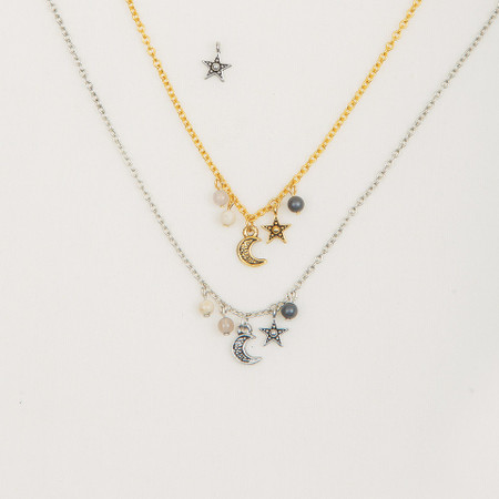 necklace lot item jewelry celestial with crystal gift silver pendant constellation zodiac