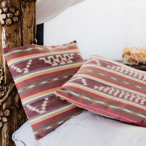 Natural Dye Pastel Ikat Pillowcases