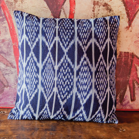 Natural Dye Indigo Ikat Pillowcase