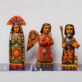 Small Handcarved Wooden Saint Statues