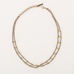Faceted Metal Choker