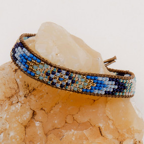 Gold & Glass Beaded Bracelet