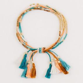 Multi Strand Tassel Bracelet