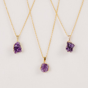 Amethyst Geode Necklace