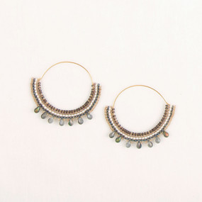 Beaded Hoops with Drops Earring