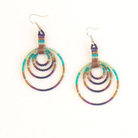 Multi Beaded Hoop Earring