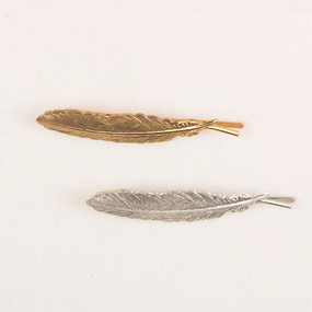 Metal Feather Bobby Pin