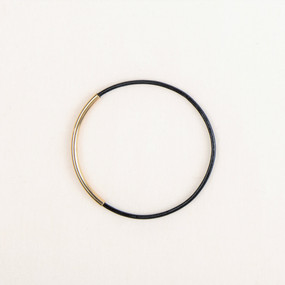 Leather & Metal Bar Bangle