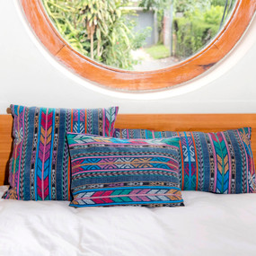Double Sided Vintage Indigo Zunil Corte Pillows