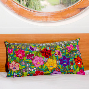San Martin Chile Verde Huipile Pillow