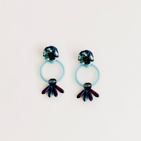 Flower Burst Post Earring