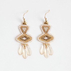 Geo Drop Earring with Spikes