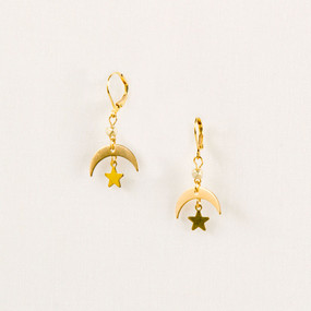 Moon & Star Earring