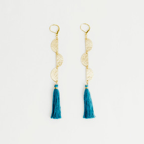 Half Moon with Tassel Earring